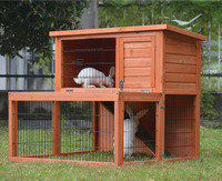 ZPRH3024 Outdoor Wooden Rabbit Hutch, Rabbit Cages, Two Story rabbit Hutch