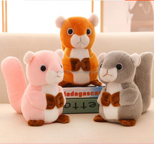 cartoon animal soft squirrel plush toy for baby