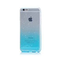 Mobile Phone Accessory Ultra Thin Clear Crystal Soft TPU Case Water Rain Drop Cover For iPhone 6 4.7