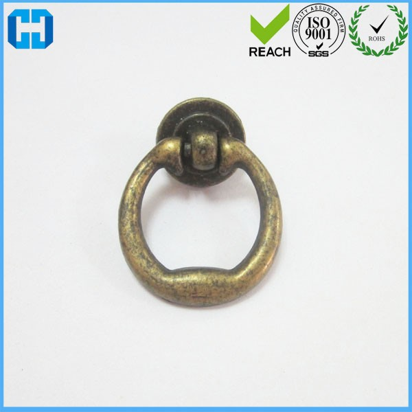 Wholesale Round Ring Solid Brass Antique Cabinet Drawer KNOB Pulls