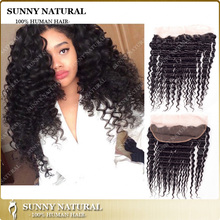 Alibaba <strong>Express</strong> Wholesale Top Quality Cheap 100% Human Virgin Brazilian kinky curly Lace Frontals