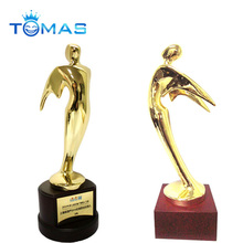 New arrival brass color plated custom metal figurines