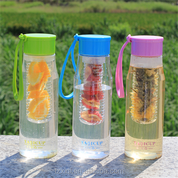 Friut Infuser Tritan Water Bottle BPA free material with Filter