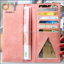 Factory wholesale Korea PU Wallet, ID and Credit Card Holder, Beautiful Soft Wallet Case