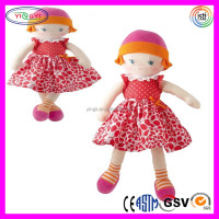 A961 Red Dresses Girl Rag Doll Stuffed Soft Sexy Lingeries Baby Doll