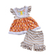 Puresun baby girl clothes wholesale clothing toddler girls boutique remake short sets children summer ruffle outfits