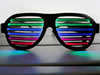 Hot Christmas gift Sound Activated Light Up Glasses