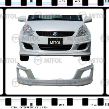 For SUZUKI SWIFT Front Bumper Lip 11-ON Car Body Kits