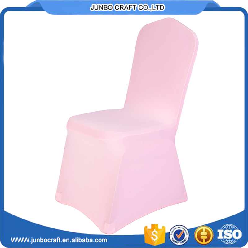 pink color plain style spandex stretch cheap universal chair cover for wedding