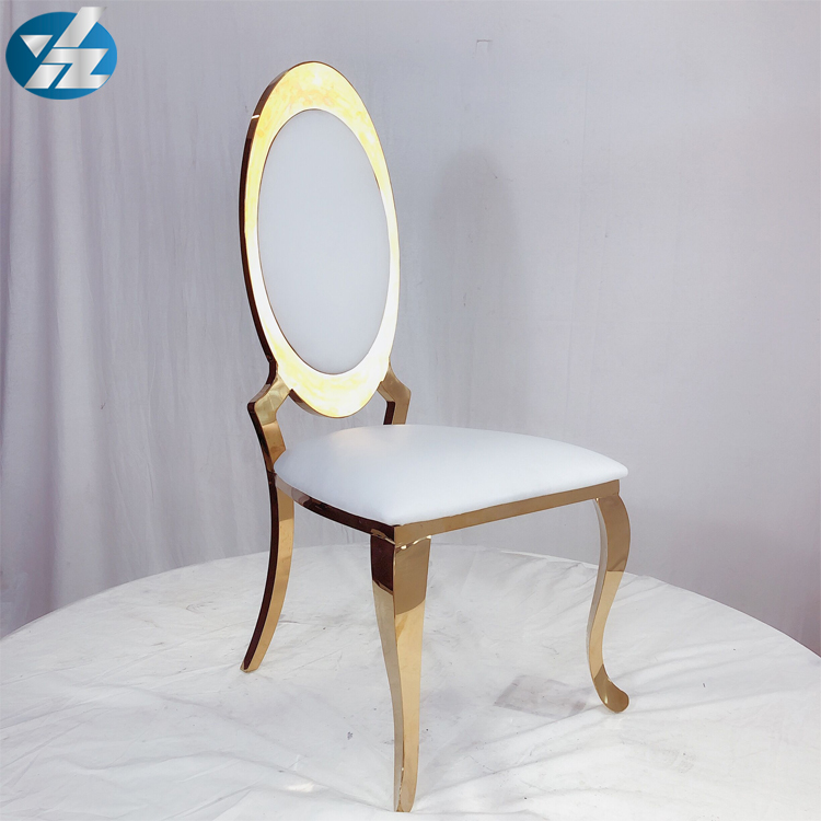 Custom stacking wedding chairs for bride and groom
