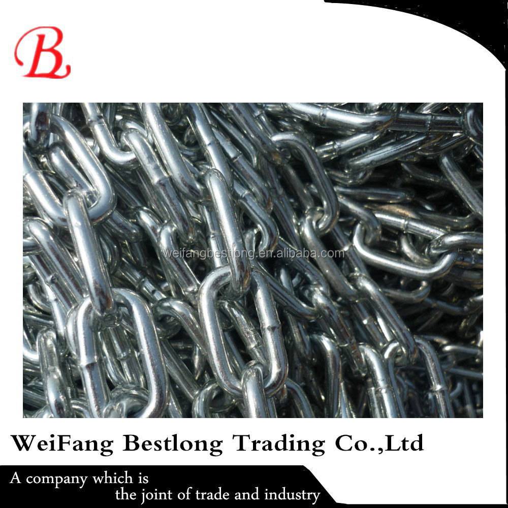 China Manufacture DIN763 Zinc Plated Long Link Chain