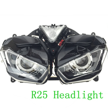 Motorcyle Headlight For YAMAHA YZF R25 R3 Red Demon Angel Eye Modified customize LED Turn Signal Lamp