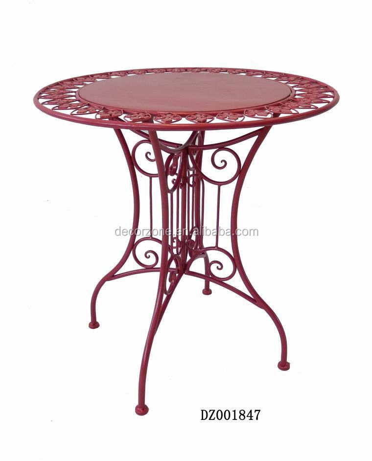 Decorative Wrought Iron Table Furniture With Cheap Price