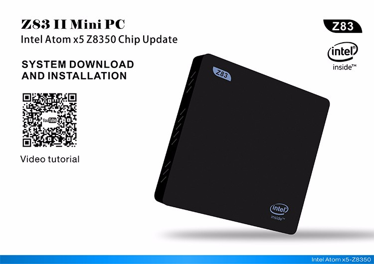 Z83II AC WIFI 1000M Gbit LAN Intel X5-Z8350 2G 32G Windows10 Mini PC