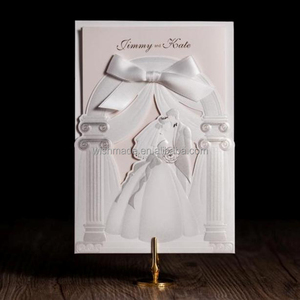 Custom Print Paper scroll wedding invitations hindu 2017