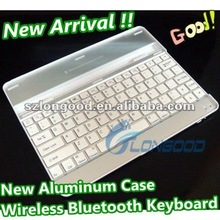 3 in 1 (Wireless Bluetooth Keyboard+Aluminum Case+for iPad2 Stand) Aluminum bluetooth keyboard for iPad 2