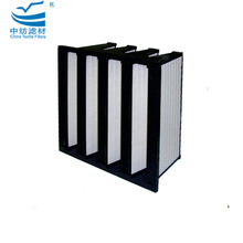 V1020A High Capacity Deep Pleated Seperator Hepa V Bank Compact Air-Conditioning Rigid Bag Filters Plastic Frame Of Air Filter