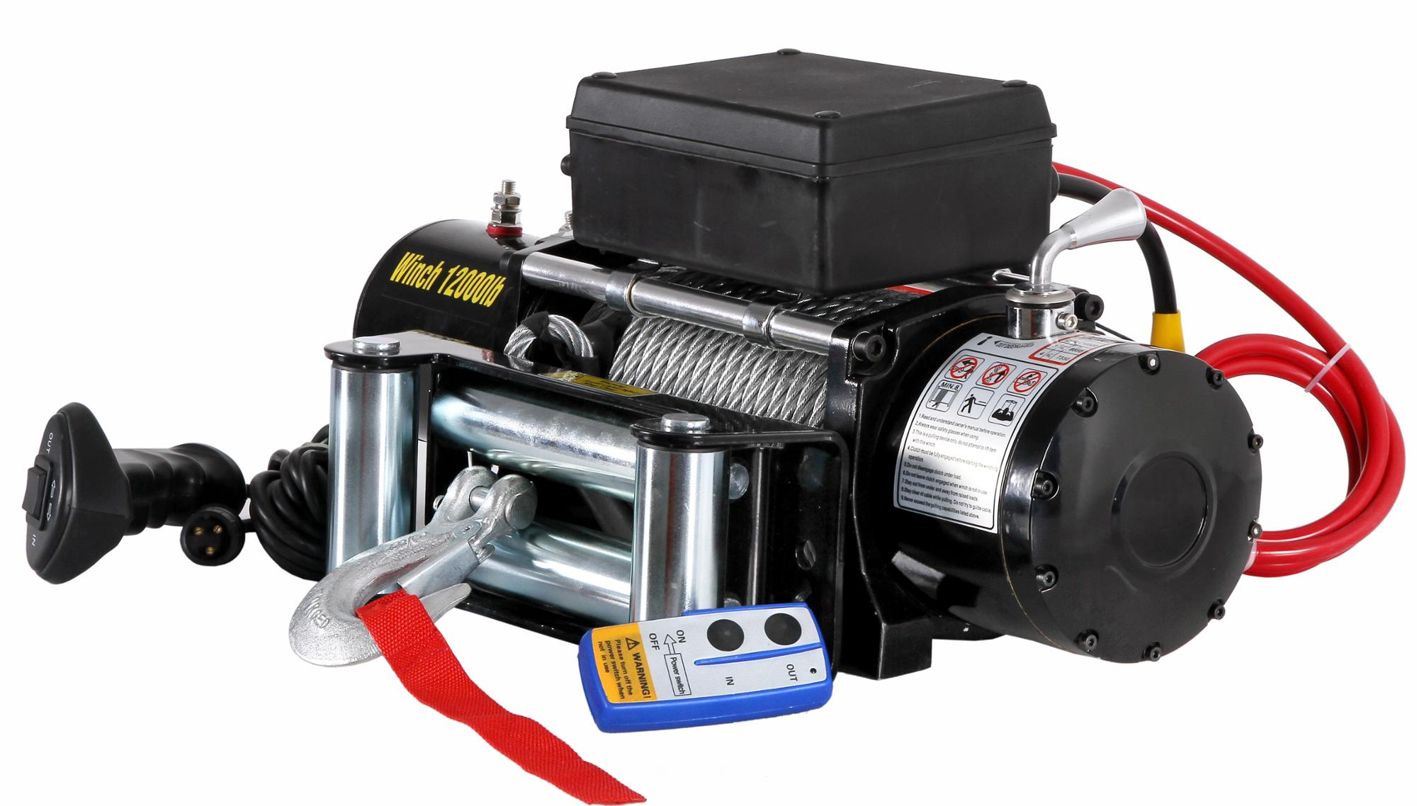 12000lbs mini 12v 20v DC self recovery electric winch