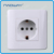 U121 home 10A 250V EU/IEC standard 2round pins electrical switched socket