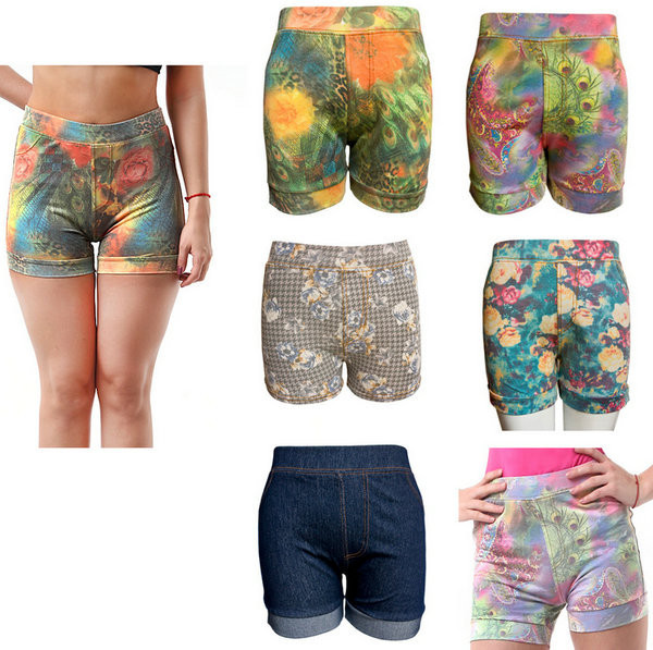 Cheap Summer Women Sexy Pictures Of Girls Casual Mini Short Shorts Stretch High Waist Jeans Pants Shorts