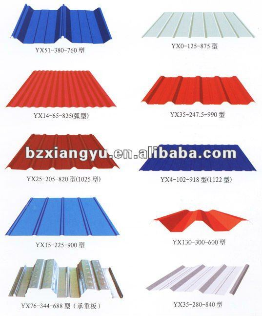 prepainted galvanized roof sheathing / shingles roofing