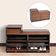 wooden shoe cabinet storage bench closet cupboard
