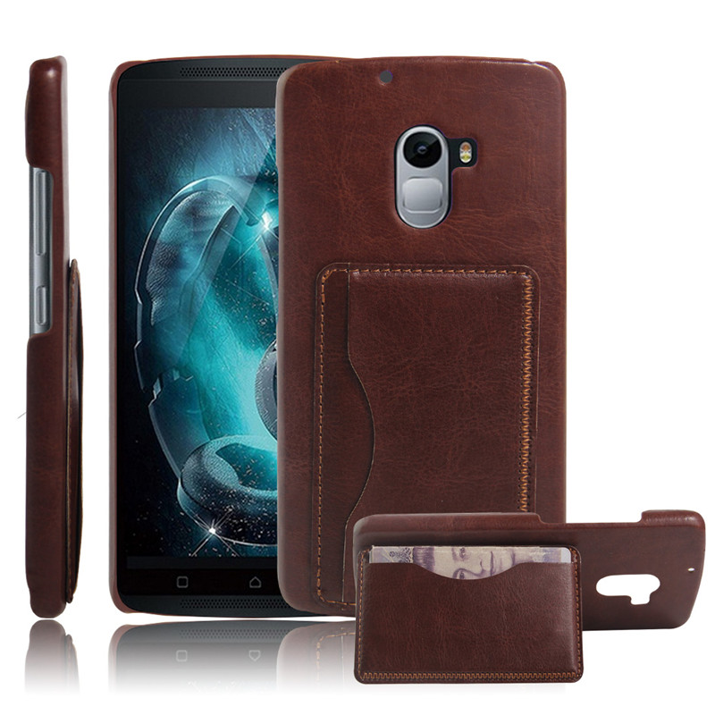 Slim Thin Leather Back Cover Case for Lenovo A7010, Leather Cell Phone Case for Lenovo A7010