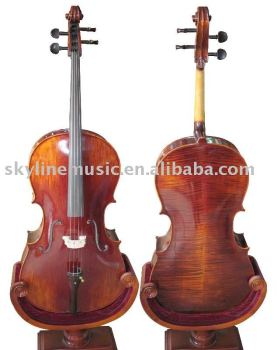 CE04 High quality handmade flamed maple cello