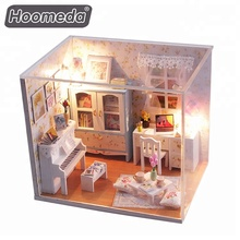 Hot sale kids wooden dollhouse,top fashion baby wooden doll house