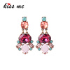 ed01542 Large Glass Colorful Bohemia Style Statement Earrings, Jewellery Sets Jewelry Wholesaler