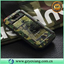 new arrival metal shockproof protective case for apple iphone 5c camo design waterproof case