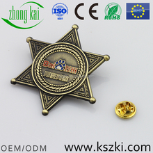 Baidu hero antique copper metal badge, small orders are accepted