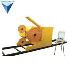 Self-manufactured stone block quarrying cutting diamond wire saw machine