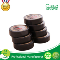 Black High Voltage Cable PVC Electrical Insulation adhesive Tape