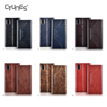 For iphone X Wallet Case, Embossing Crocodile Pattern PU Leather Wallet Case Flip Phone Case Cover with Card Slots for iphone X