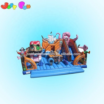 giant inflatable playgrounds pirate ship inflatable fun city with slide