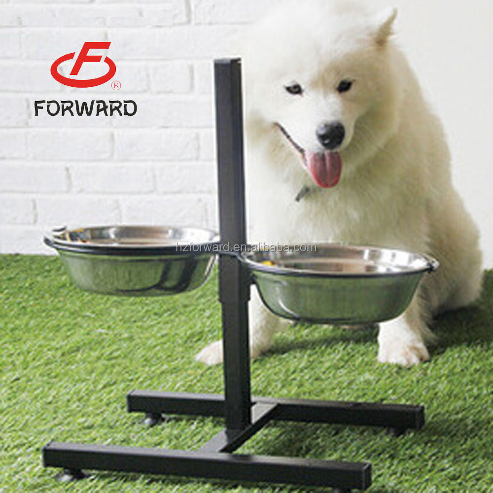 elevated stainless steel dog bowls with stand