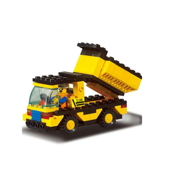 bd-7539500 building block set Plastic intelligent toys brick engineering truck 93pcs