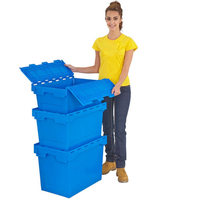 Stacking Moving Plastic Turnover Box/ Plastic Nest Container/ Tote Box