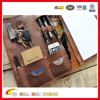 fashion design Graduation Gift Leather Portfolio sketch book With Cell Phone Pocket
