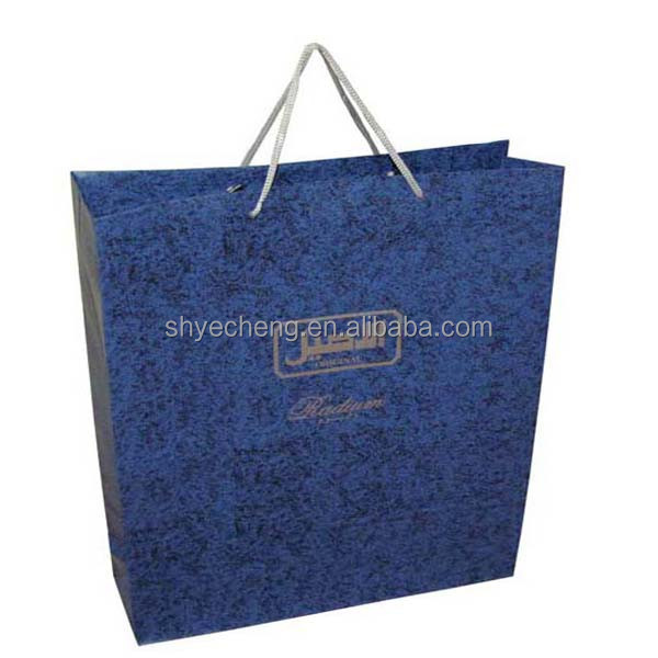 hot sales oem production custom promotional paper bag specification