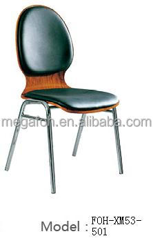 High Quality Cafe Leather Padded Chair with Iron Frame (FOH-XM53-501)