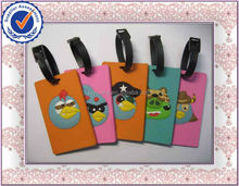 blank pvc silicone rubber luggage tag