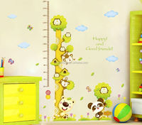 Stock tree bear height wall decal pvc sticker for kids room decoration