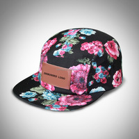Sublimation custom printing snapback cap,Baseball Cap Hat Plain Adjustable Velcro caps with 5 Panels Christmas, daily wear hat