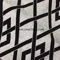 Polyester Flocking fake linen fabric for sofa cover curtain fabric wholesales
