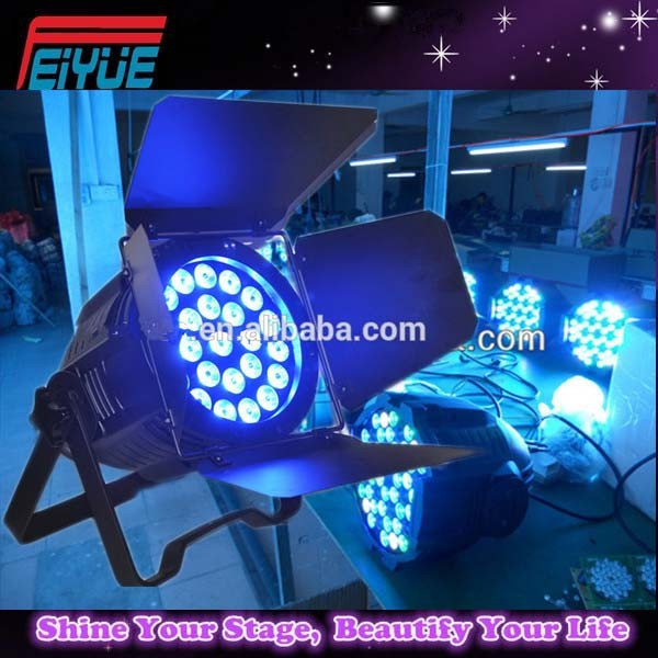 Outdoor 24*15w 5in1 full color rgbw led flat par light rotating