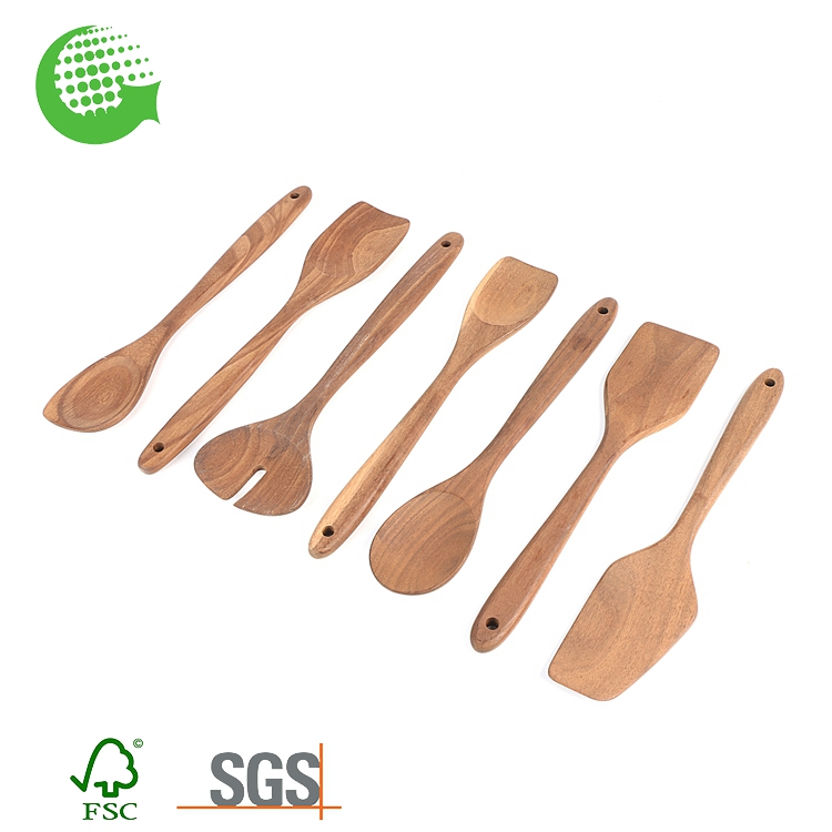Hot Sale Carbonized Wood Natural Bamboo Kitchen Cook Spoon Set