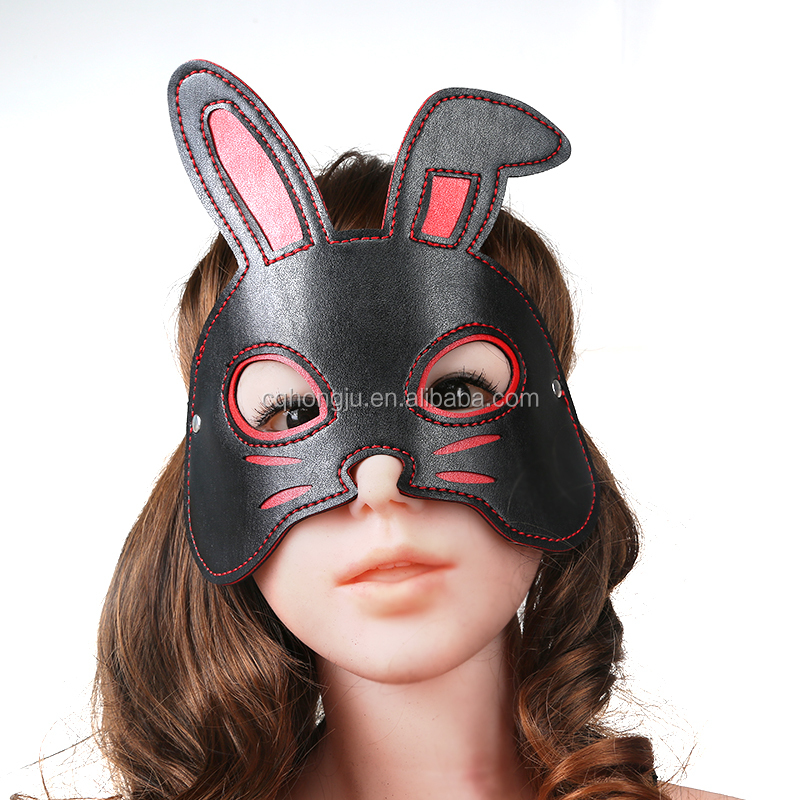 Mysterious animal head masks for male bondage sex hood