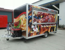 scooter pizza food service cart commercial hot dog cart refrigerator cooking trailer